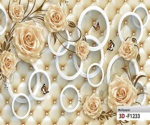 طرح گل پوستر سه بعدی